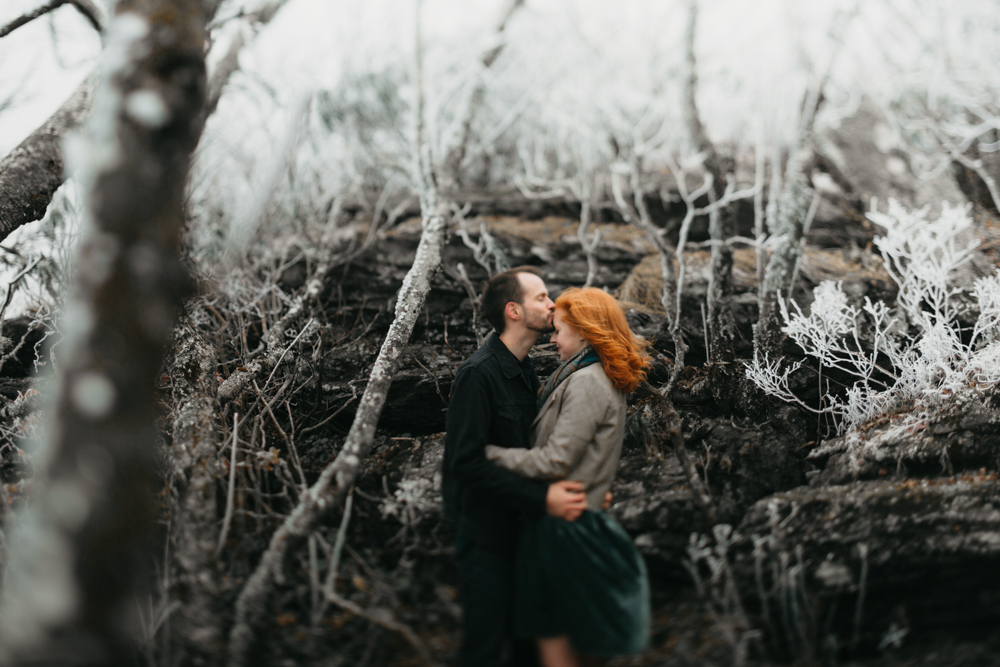 Engagement session outside of Asheville, NC on the Blue Ridge Parkway.