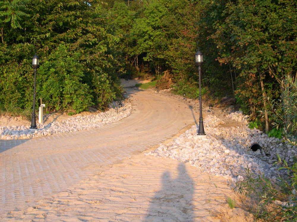 paver path to lake michigan, w drainage and lighting.jpg