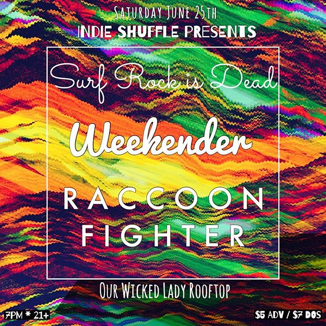 We'll see you in Brooklyn this Saturday with @surfrockisdead and @raccoonfighter at @ourwickedlady via @indie_shuffle see you there! #floatyfeelingblue