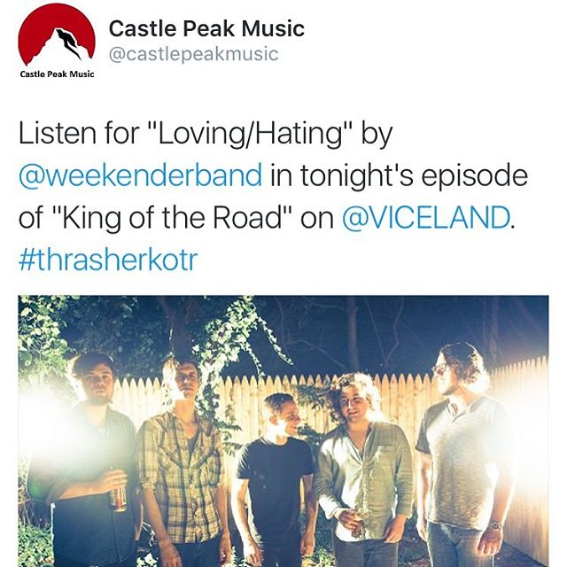 Our song Loving/Hating was on @viceland #kingoftheroad @thrashermag #floatyfeelingblue