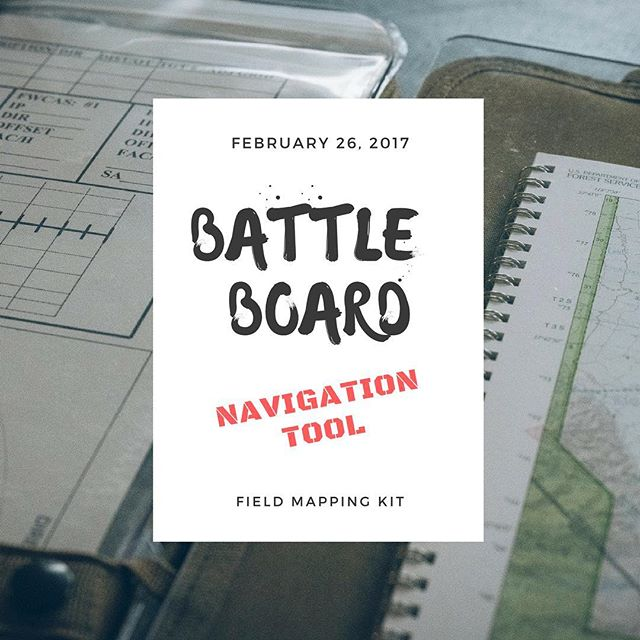 Picked up a new tool to try out before the @rebellerally . @battleboard.us Will it work for our rally mapping needs? #adventure #offroad #navigation #mapping #mapandcompass #nogps