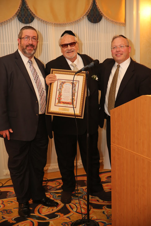 RABBI DOVID MAX, MARCO DILAURENTI, RABBI HAYIM SCHWARTZ    LBA ANNUAL DINNER GALA - THURSDAY, NOVEMBER 5, 2015 - SPRING MILL MANOR