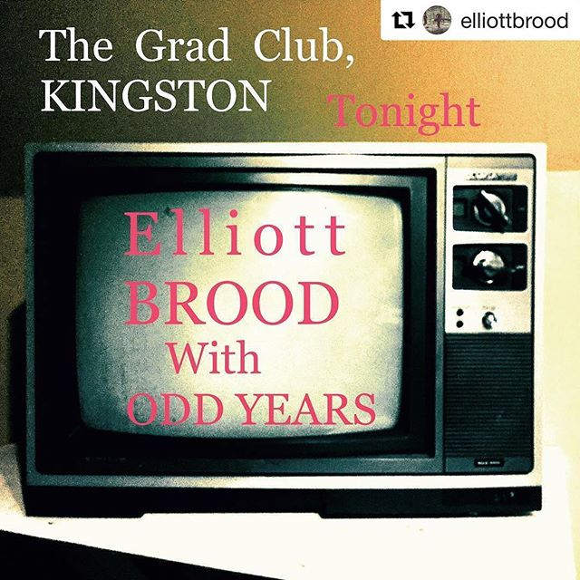 #Repost @elliottbrood ・・・ We play @thegradclub here in #Kingston tonight with our good pals @oddyears Only a few tickets left. Get here early. 🚪 Doors at 9pm.