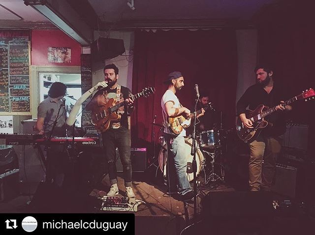 Thanks for coming out, the pic, and the kind words @michaelcduguay; as well as everyone else that made it out to the past few shows! We had an amazing weekend with @elliottbrood and look forward to opening for them again this Thursday in Waterloo @starlightsocialclub and Friday in London @calltheoffice. Get your tickets! . . . . . #Repost @michaelcduguay ・・・ it was top shelf seeing some of my old buddies perform last night @oddyears sure can shred