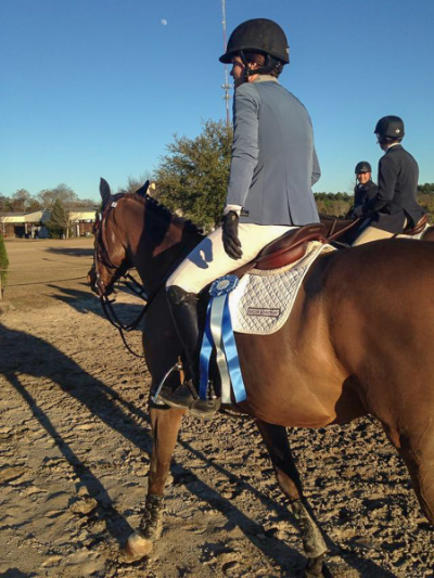 The view of Erin McGuire and Kasarr that her competitors saw in the $15,000 Aiken Winter Classic Mini Prix!