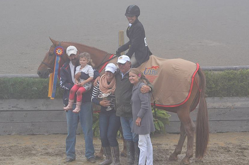 Liza Towell Boyd and Brunello win the $15,000 USHJA International Hunter Derby