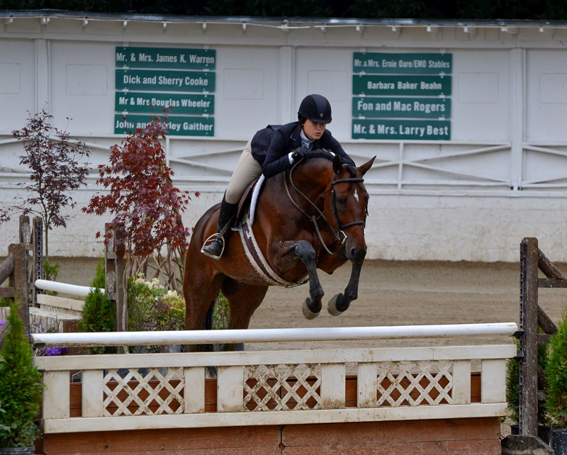 "Laura Critz, WCHR Southeast Region 3'3"" Junior Hunter Rider Award winner, and Quatrain"