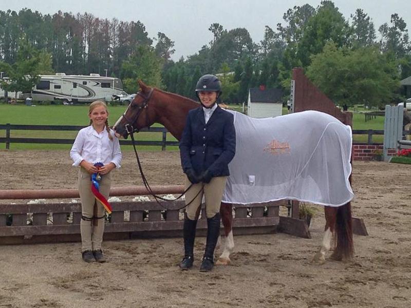 Catherine Sharp and Carolina Chrome, with rider Megan Rosenthal.