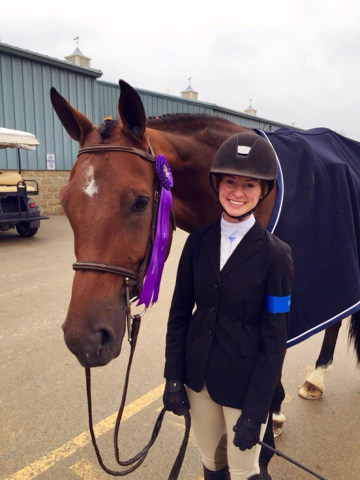 Grace Howard and Bethel's Peri at the National Horse Show