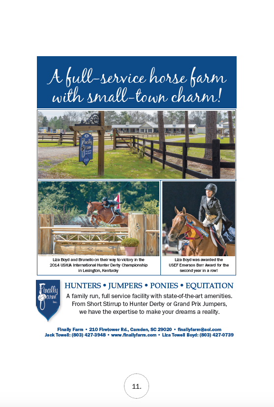The Plaid Horse  magazine Winter Showcase ad - January 2015