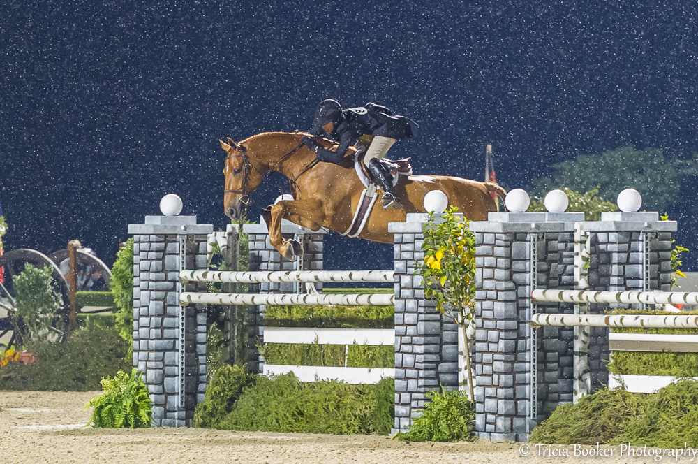 Liza Boyd and Brunello at the 2014 USHJA International Hunter Derby Championship