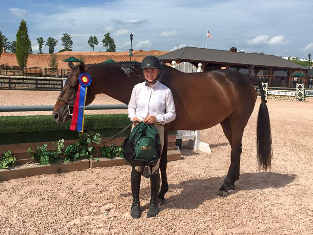 Eloise the Small Junior Hunter champion with Megan Rosenthal