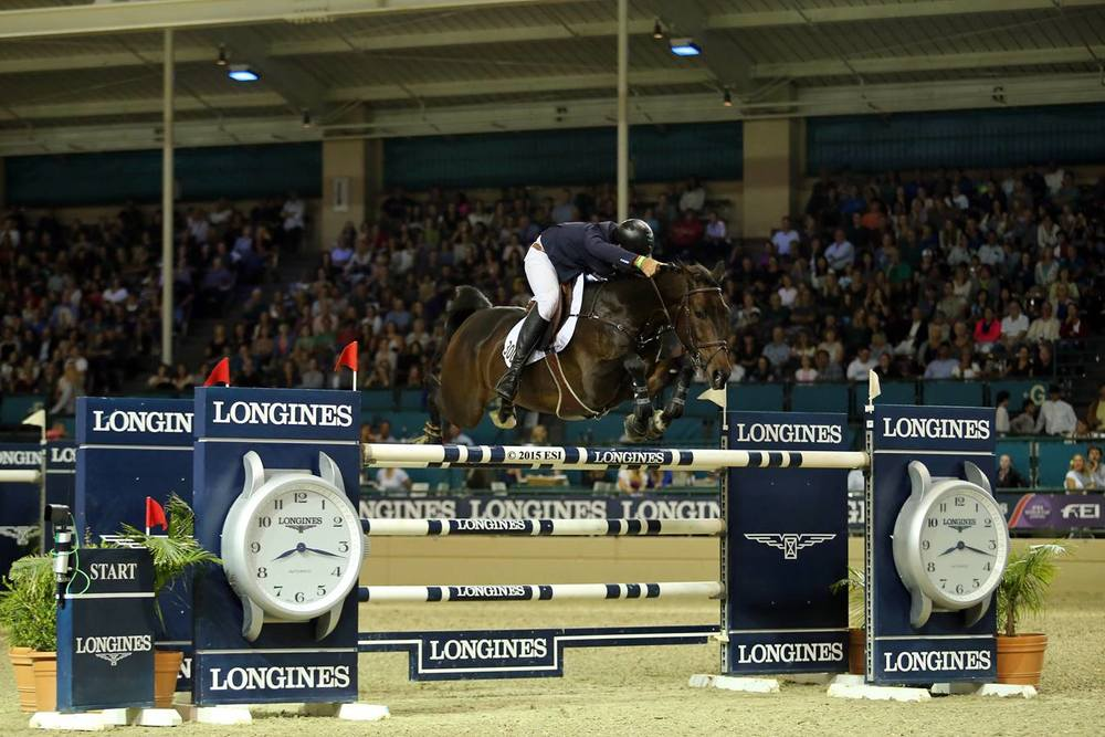 Hardin Towell finished second in the $150,000 Longines FEI World Cup Qualifier in Del Mar