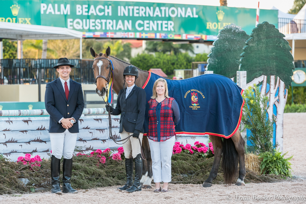 "Liza Boyd and O'Ryan collected the 3'6"" Performance Working Hunter Championship during WEF Week 6."