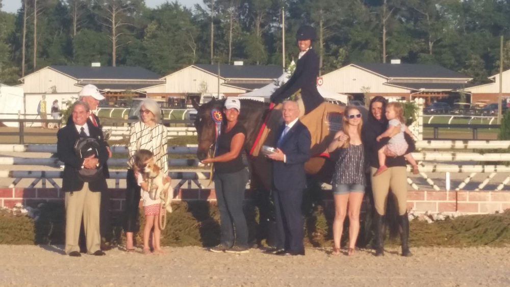 Pony Lane Farm's Like I Said and Liza Boyd won the $25,000 USHJA International Hunter Derby