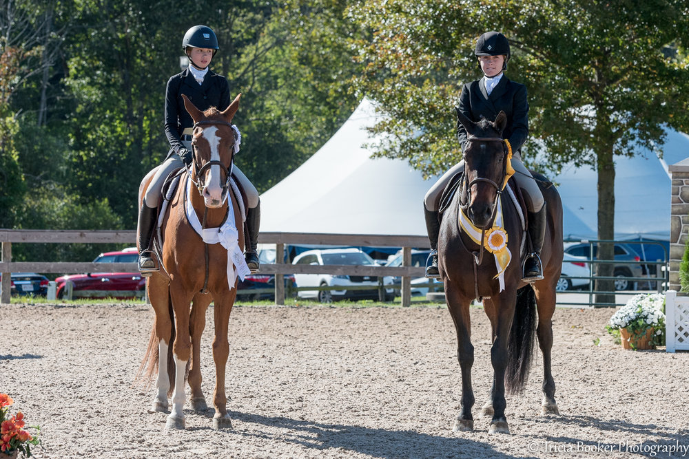 Maggie Hill and Ruby Sloan finished third and fourth in the WCHR Children's Challenge