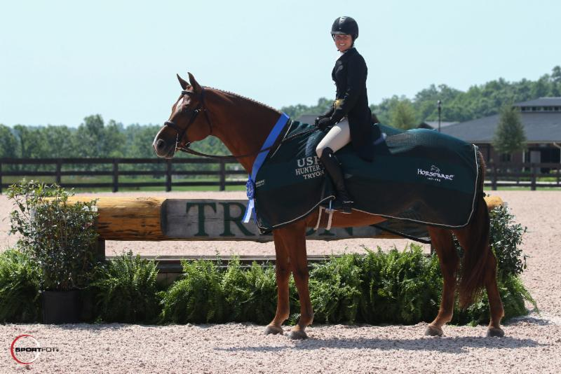 Liza Boyd and Shamrock won the USHJA National Hunter Derby at Tryon