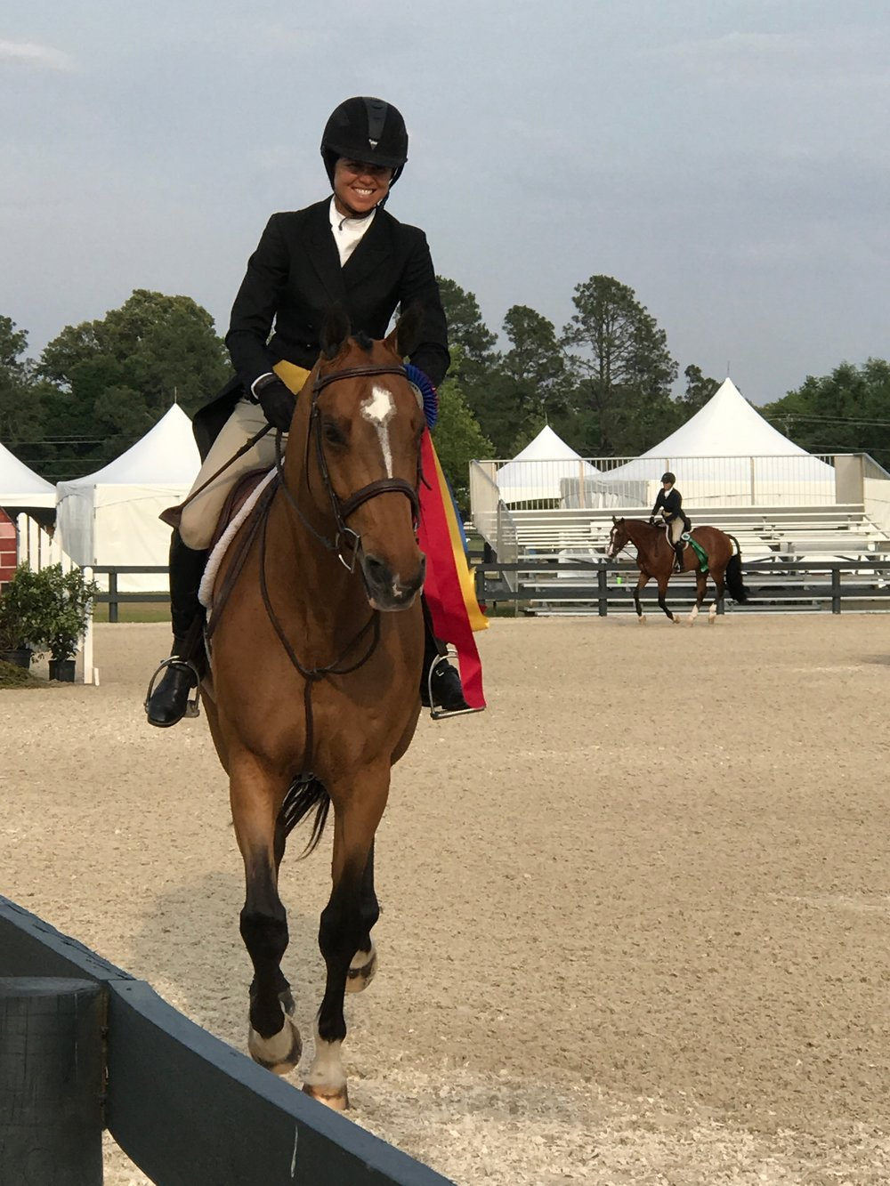 Liza Boyd and O'Ryan won the USHJA International Hunter Derby at Aiken