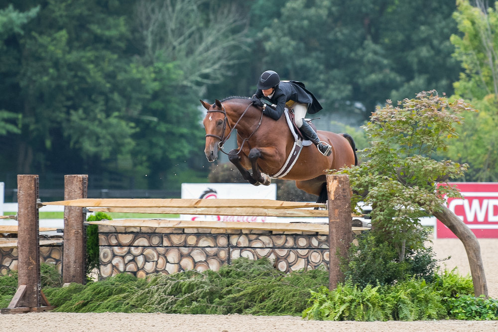 Liza Boyd at the 2018 USHJA International Hunter Derby Championship