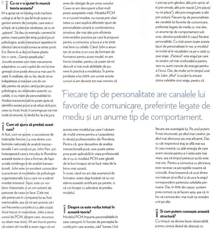 Interviu cu Dragoș Bucurenci, Psychologies, decembrie 2009