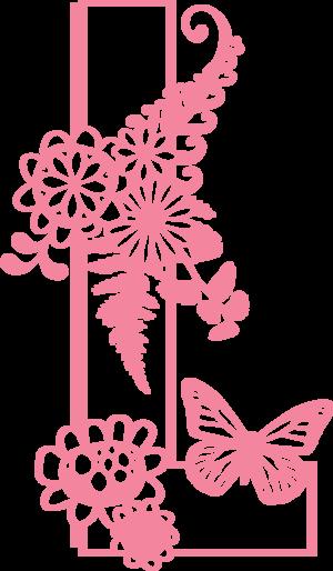 LETTER L Digital SVG PDF & PNG — Nonna Illustration & Design