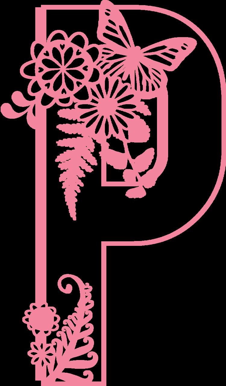 Letter P Digital Svg Pdf Png Nonna Illustration Design