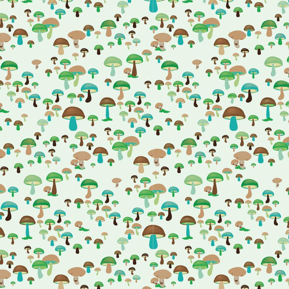 design surface pattern nature mushrooms nonna design illustration