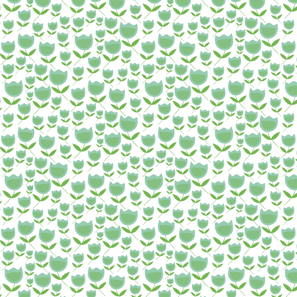 design surface pattern tulip flowers green nonna design illustration