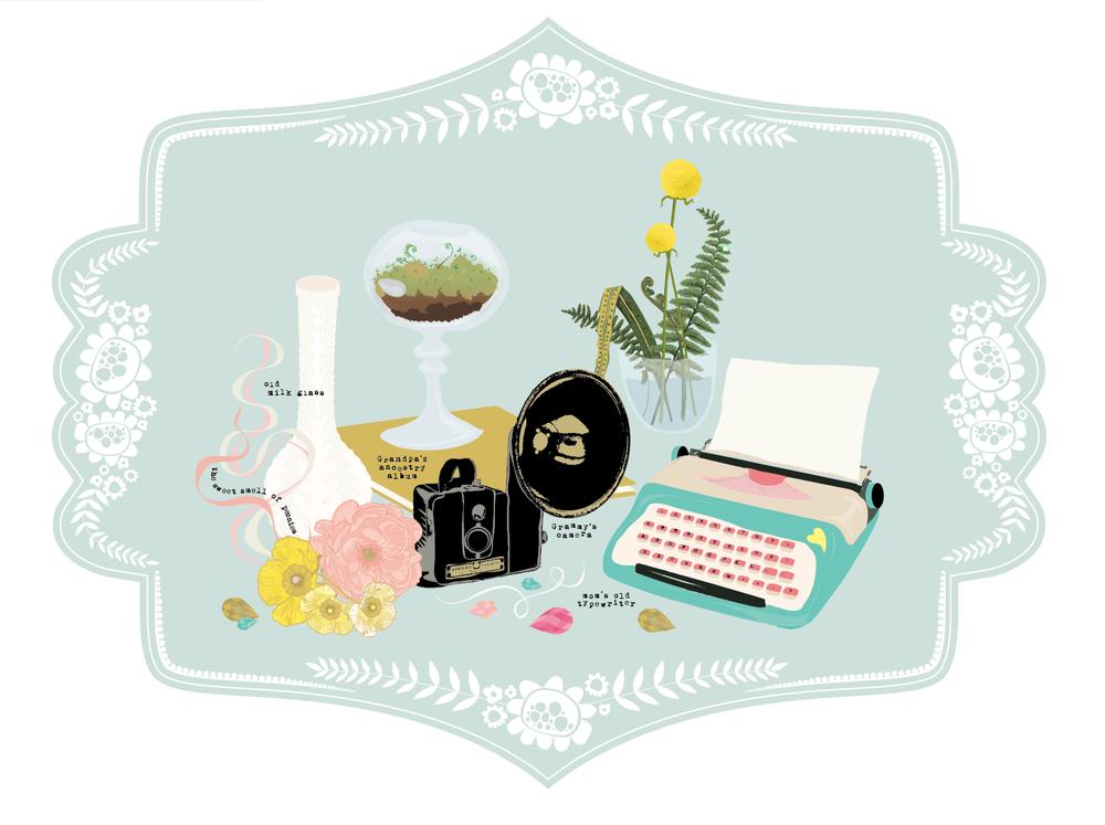grandmas-house-illustration-peony-camera-milk-glass