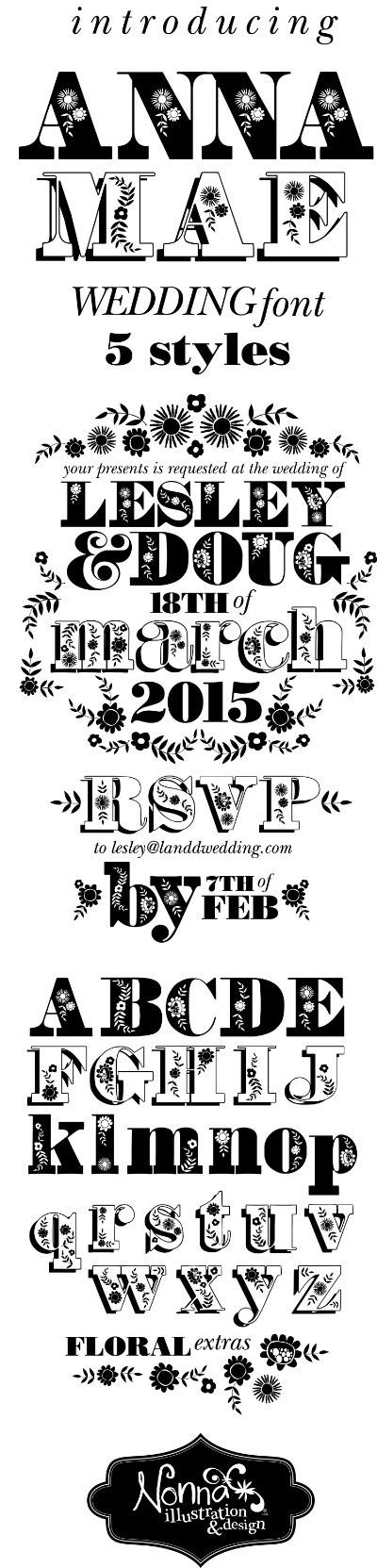 anna mae wedding font