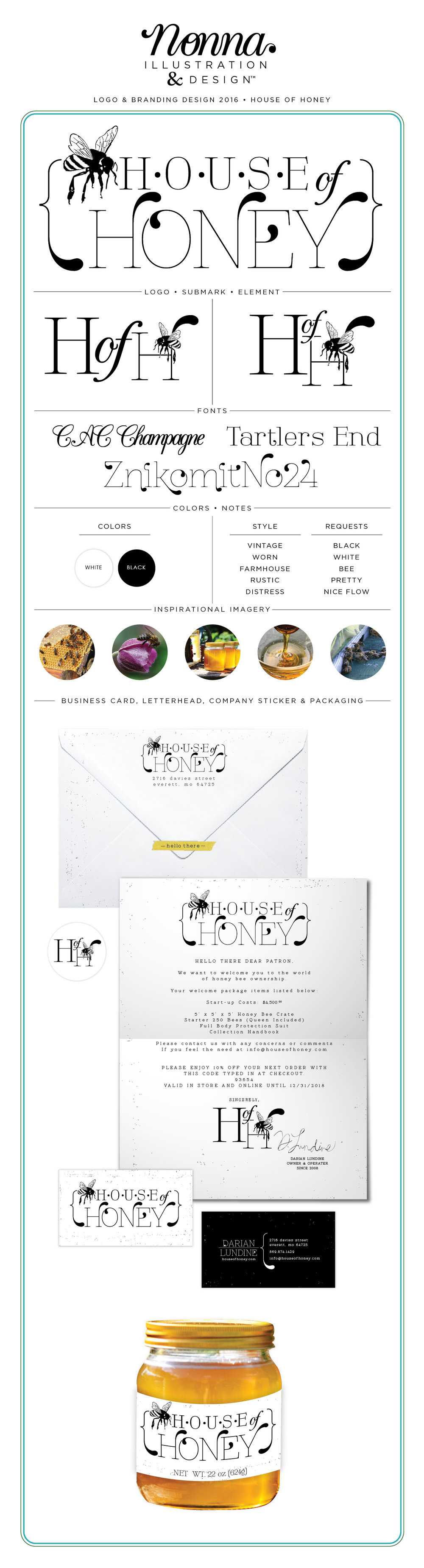 Branding Design Board House of Honey