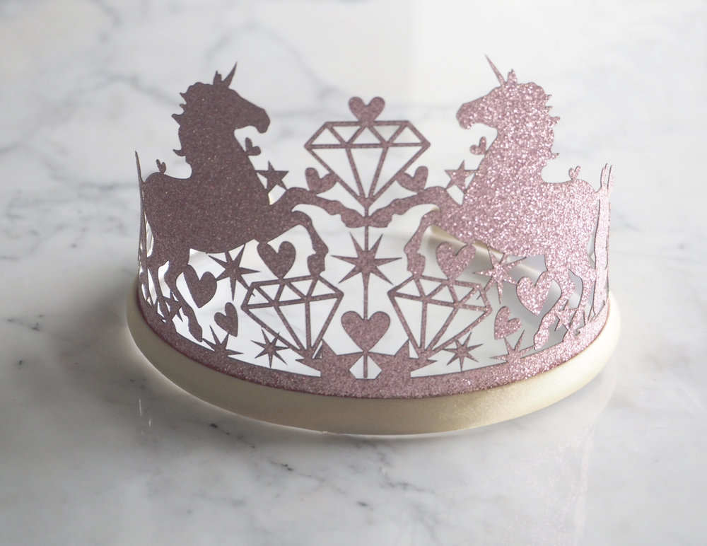 Staging Designs for Photographing • Laser Cut Mermaid Unicorn Birthday Invitation