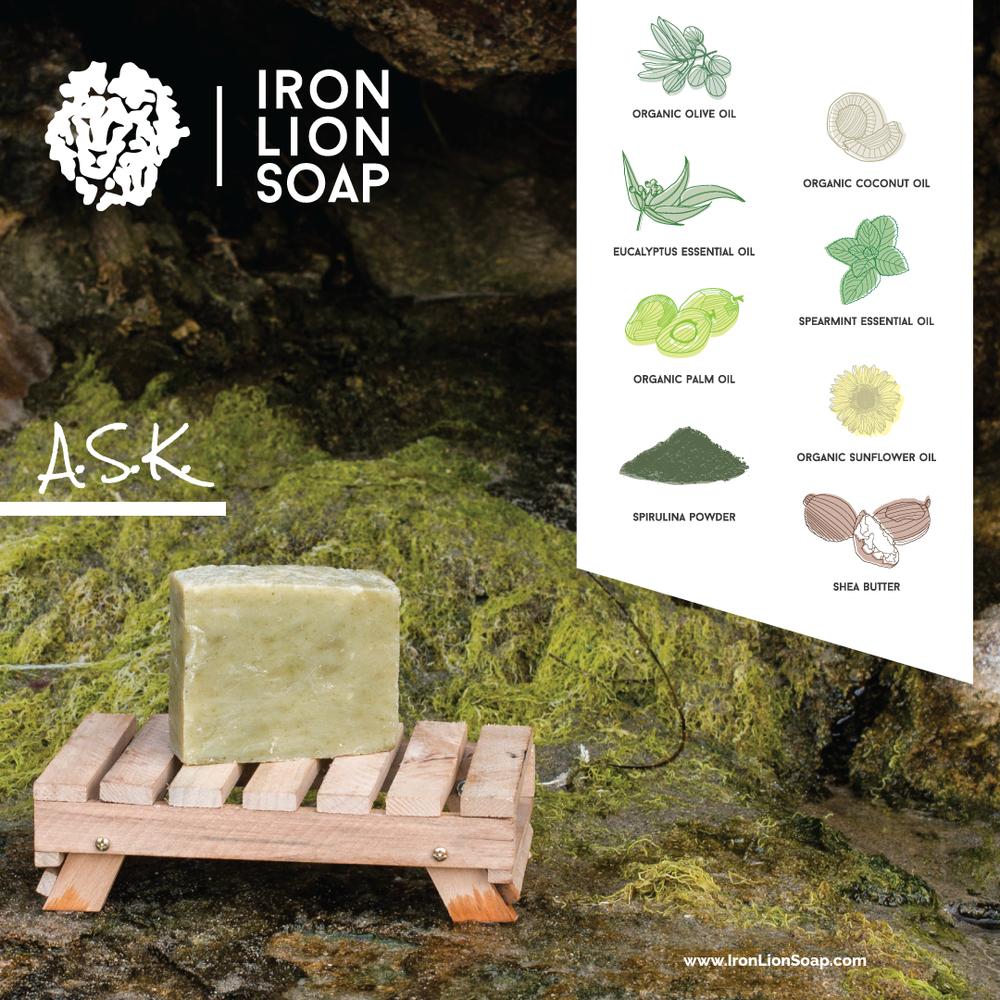 ILS Natural Soap Shop - Spearmint/Eucalyptus/Spirulina