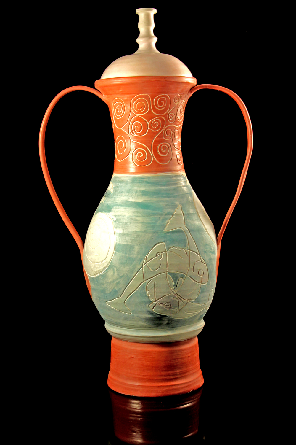 "Back view, """"See"" of Life,"" amphora"