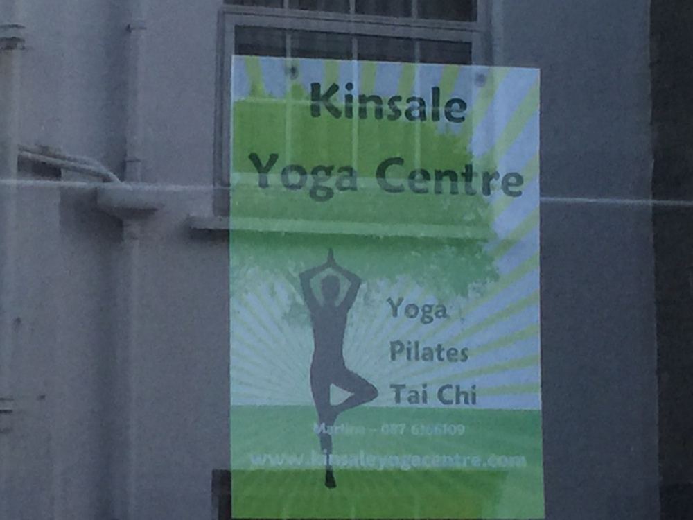 Yoga studio in Kinsale. This is how I avoid injuries common to clay artists, like back pain and carpal tunnel syndrome- YOGA!