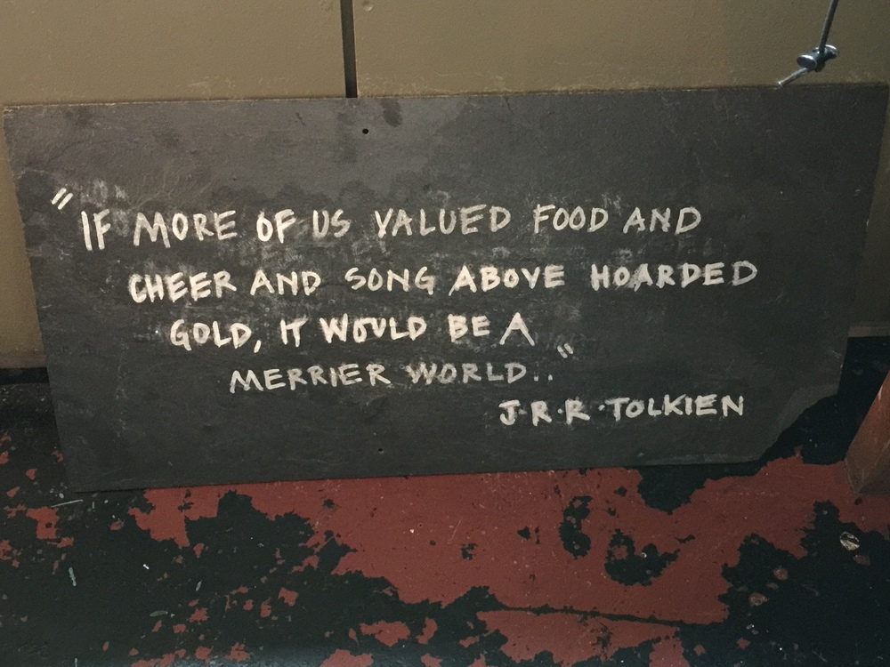 "Blackboard in ""The Black Pig,"" a tapas bar in Kinsale. Well said."