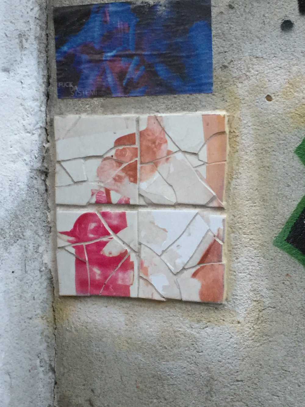 Tiles on side of building in Alfama