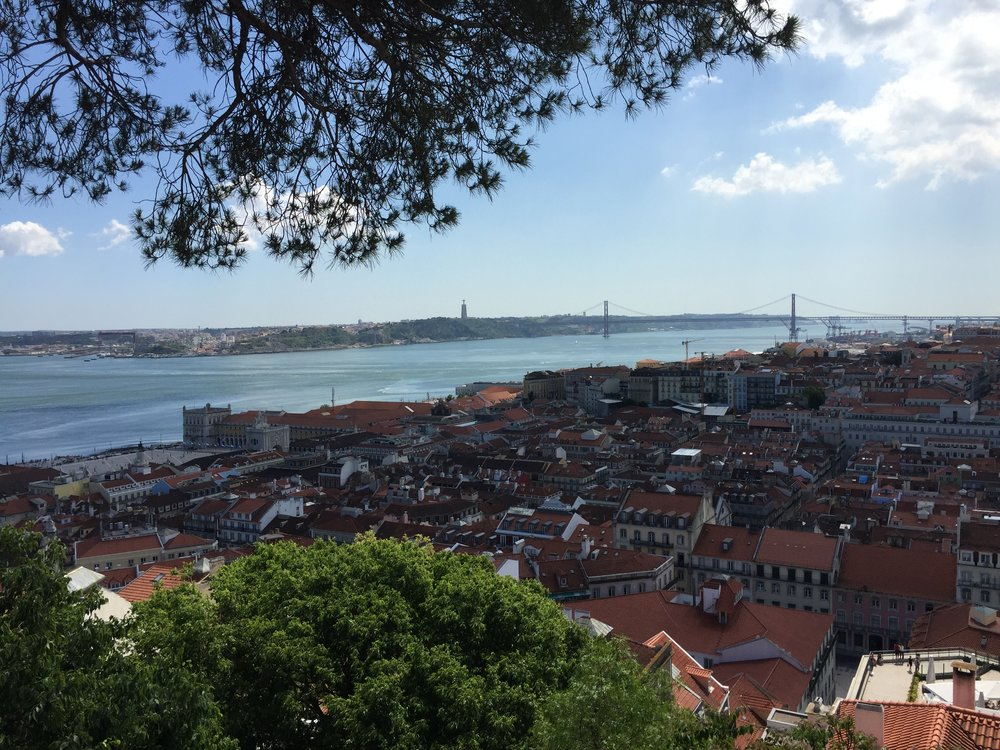 View from the Miradouro do Castelo de S. Jorge in Lisbon,(Lisbao)