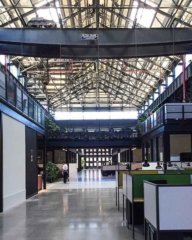 First look @newlab #brooklynnavyyard. Incredible space. Like the studio of the best architecture school ever. Besides #virginatech