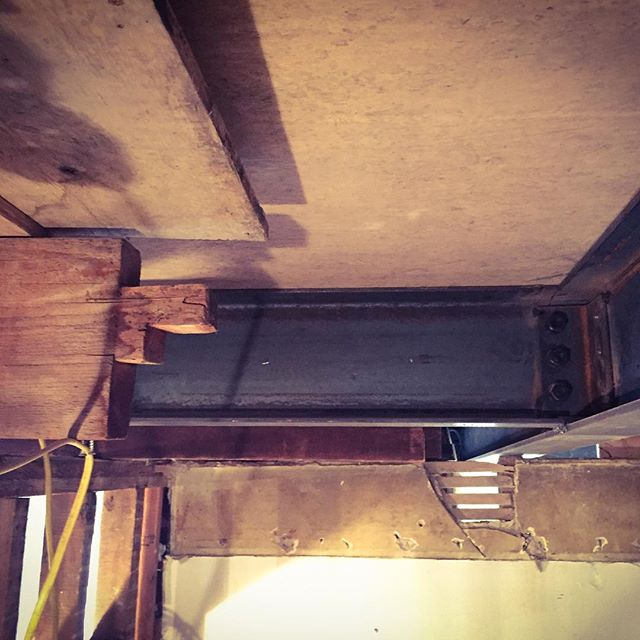 Once there were tenons, now there are bolts. #brooklynheights #renovation #brownstoner