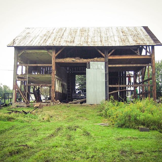 Dismantling old barns and repurposing them was lots of fun. Circa 2006. #oldbarns #adaptivereuse @cabinporn @zachklein