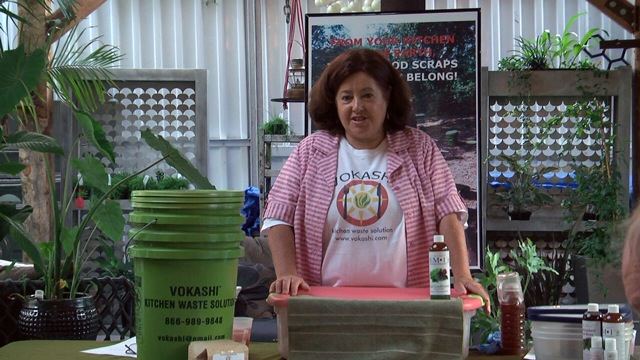 vandra thorburn of Vokashi the county fair productions compost wizard
