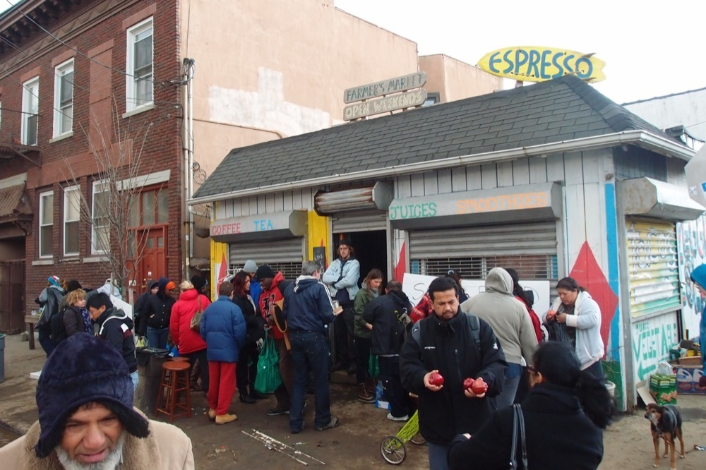 Distribution center just getting going at Rockaway Taco.