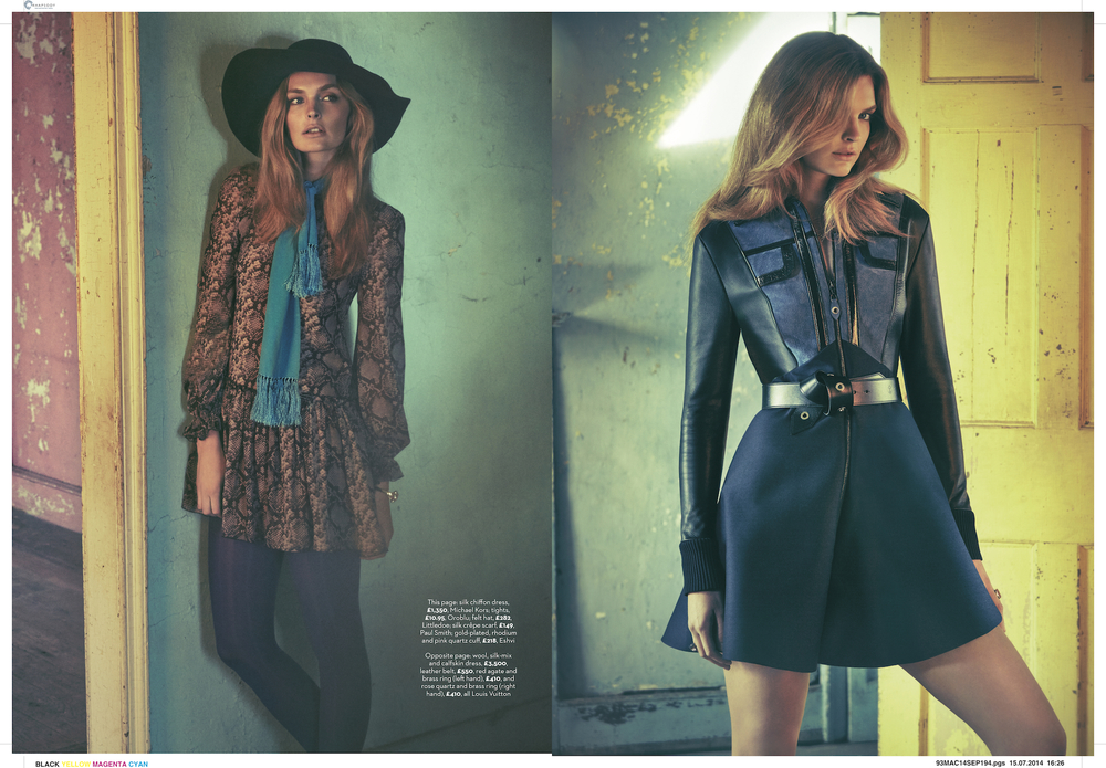 marie claire uk photo shoot of tiffany fraser steele by james macari 5