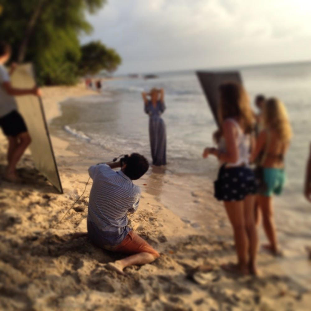 calypso in barbados photo shoot bts county fair productions on the beach nadine leopold