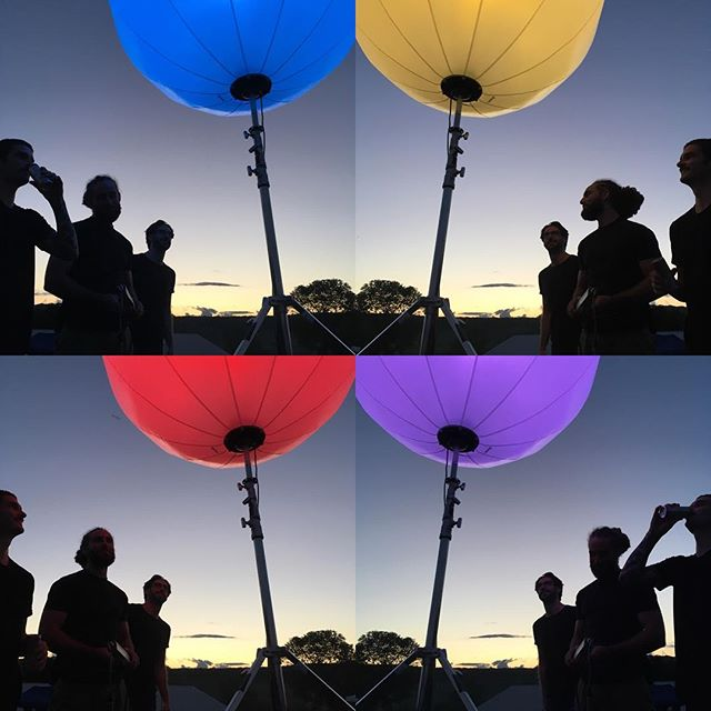Bright Ideas #onset with @kaddesh1 and @dynamicusa this week! #onlocation #airstar #sunset #nightshoot #photoshoot