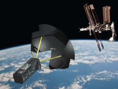 Rendering of TechEdSat-3p post-jettison from the ISS