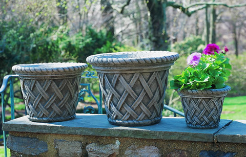 English Weave Medium Planter $160