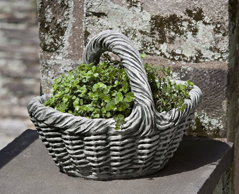Small Basket with Handle Planter