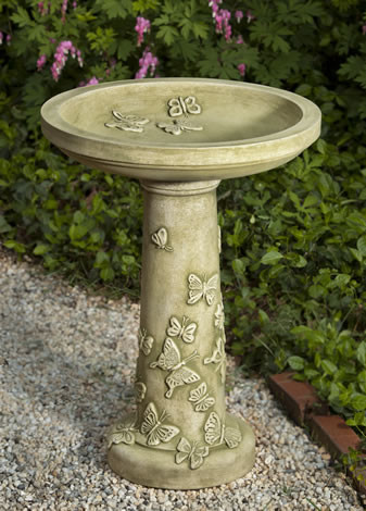 Butterflies are Free Birdbath $220